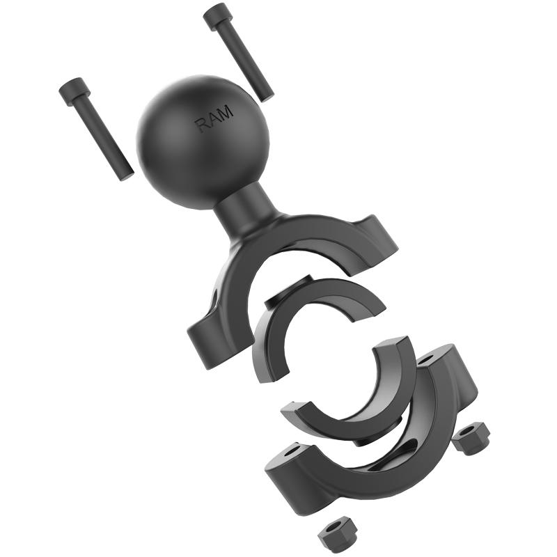 "Rail RAM Short Arm Torque Mount w// Diamond Base fits 1 1//8/"" 1 1//2/"" Handlebar"