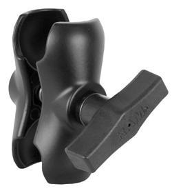 "RAM Mount Standard Length Aluminum Double Socket Arm for 1.5/"" Ball  RAM-201U"