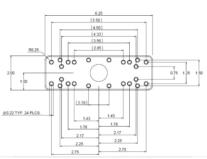 Ram 111u Universal Electronics Mount Plate Kit With Std