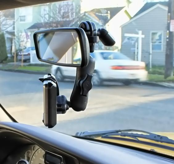 Ram B 149rvm Ga25u Ram Mount Mirror Mount With Garmin Nuvi